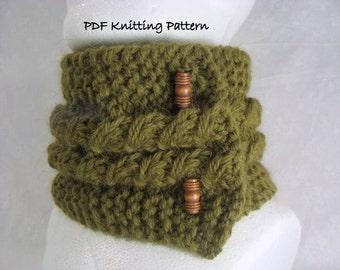 knitting pattern Slip Stitch Scarf or Scarflette - PDF Knitting Pattern