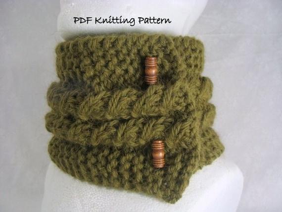 Items similar to knitting pattern Slip Stitch Scarf or Scarflette - PDF Knitt...