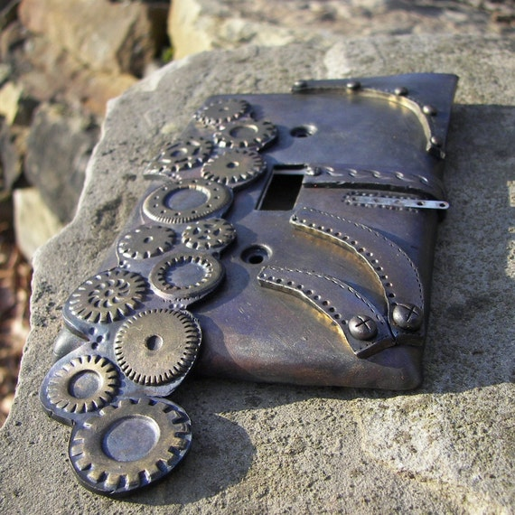 Steampunk Light Switch Plate Cover Polymer Clay By Krisi