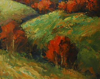 Southern ImpressionistSouthern Landscape Original Oil painting on canvas