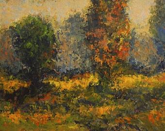 FREE SHIPPING Original Impasto Acrylic Painting 12x16 Impressionist Southern Landscape 90108
