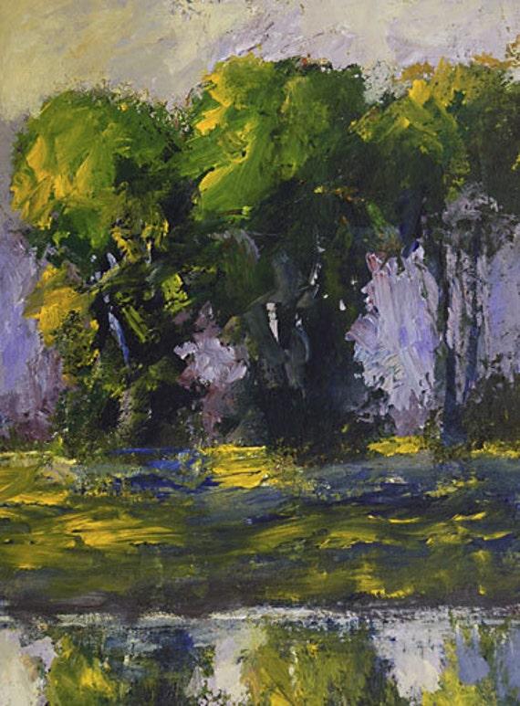Original impasto oil painting Impressionist Southern Landscape 042509e