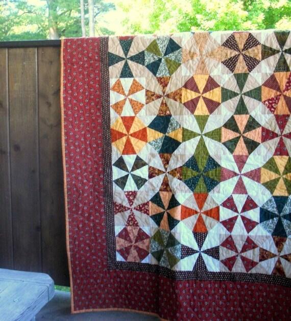 Quilt-Twin/Double-Pinwheel Design