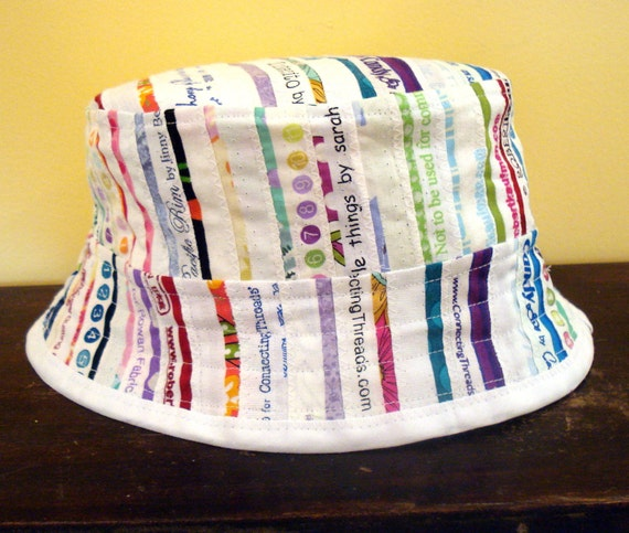 Selvage Bucket Hat in Multi colored Selvages Medium