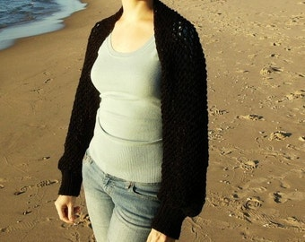 Black shrug, shawl, scarf - All in One  Made to Order