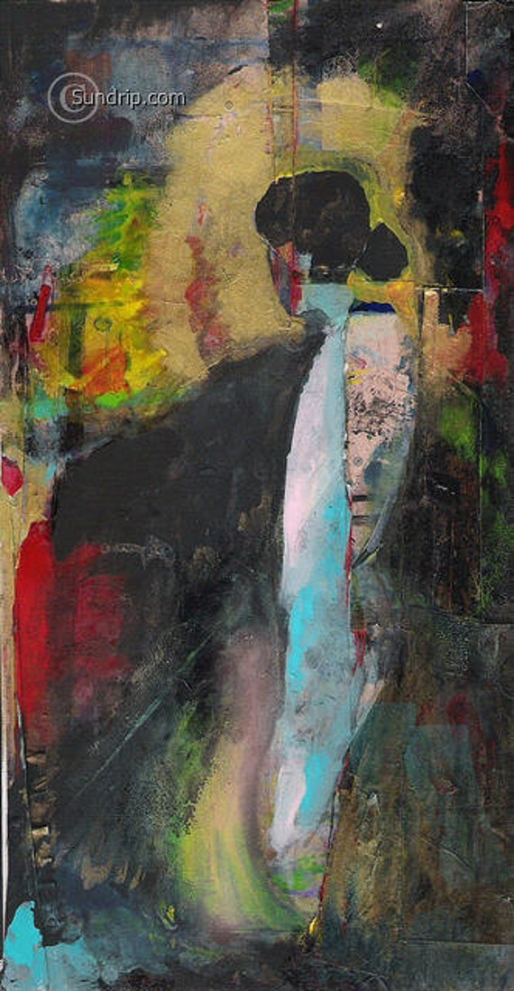 A New Woman Abstract Figurative Painting Original Wall Paper