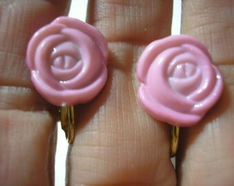 """Play Earring - Clip - Rose - Pink - 1/2"""""""