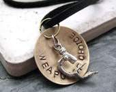 MICROSCOPE Weapon of Choice Mens Necklace, alt charms avail typewriter, football, baseball, ball cap, stethoscope, pen, spoon