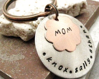 Personalized Mother's Keychain, Mommy Keychain, Mother's Day keychain, Mother's Day gift, gifts for mom, gifts for grandma, grandma gift