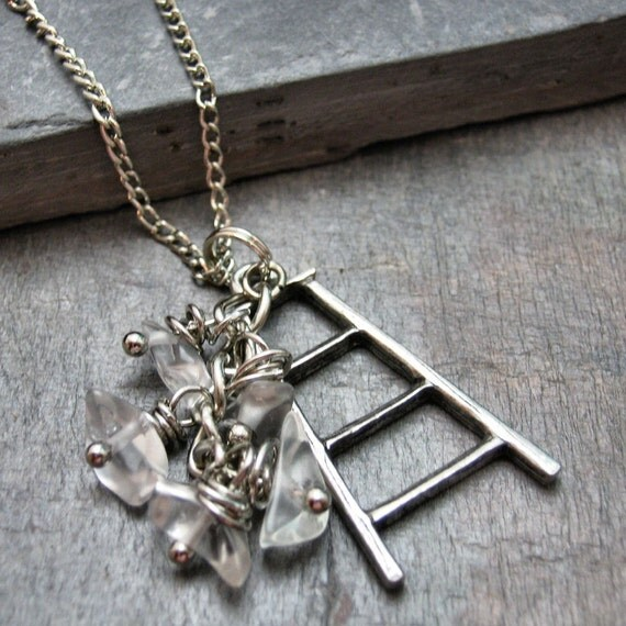 The Glass Ceiling II Silver Ladder Necklace