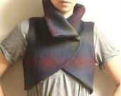 Amey-- 'Subtle' Plaid Vintage Wool Vest--Sale