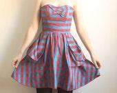 Price Reduced--Georgia--Plaid Raw Silk Dress--Mega Sale--