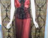 Girl On The Red Velvet Swing Victorian Dress By Soiree Vintage