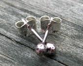 Bud Studs - organic sterling silver stud earrings