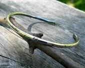Textured sterling silver cuff bracelet