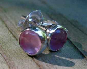 Icy Pink Sapphire Posts pink sapphire earrings
