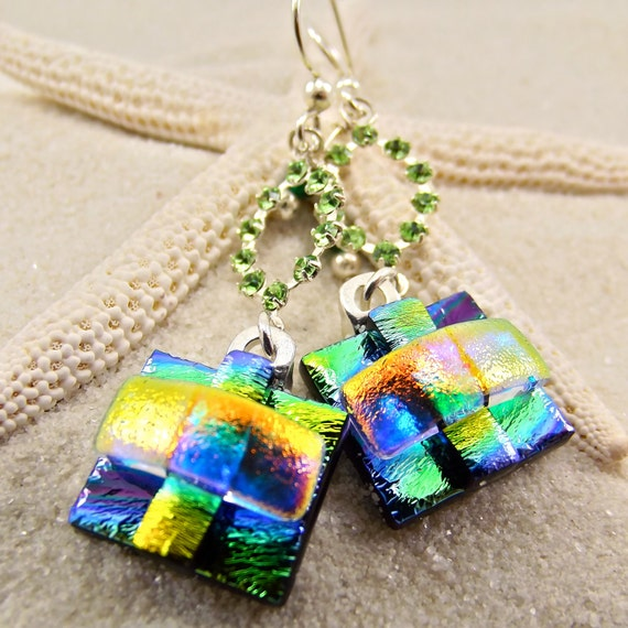 Kailua Bay Dichroic Earrings