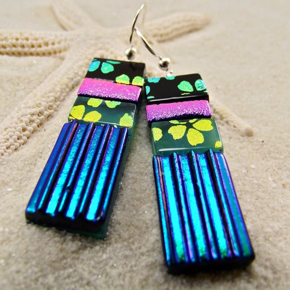 Guinevere Lady Dichroic Earrings