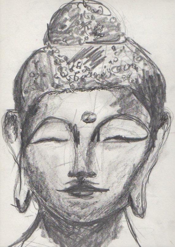 Buddha Sketch, buddha, drawing of buddha, buddha drawing, pencil, sketch, art, asian art, eastern art, heather lynch , drawing
