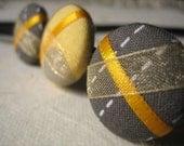 Lemon Zest - A Ribbon Button Headband - Hair Candy
