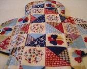 9 inch medium cloth pad - Americana Quilt