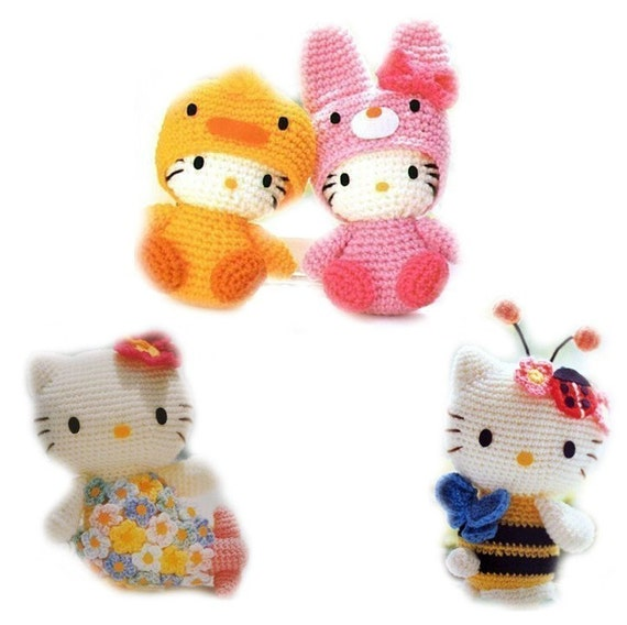 Set of 4 Patterns for Japanese Amigurumi in ENGLISH