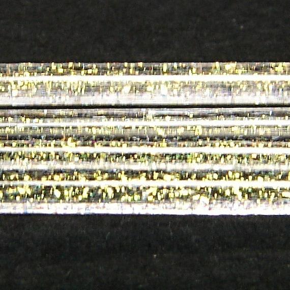 Copper-Gold Dichroic Glass Stringers cased in Reichenbach COE 104