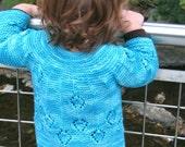 PATTERN Diamond Drop Baby Sweater