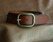 Wide Leather Belt, Retro Style Leather Belt, Custom Sized Belt, Brown Leather Belt, Black Leather Belt