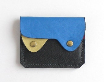 Small Leather Wallet, Coin Purse, Card Case, Leather Wallet