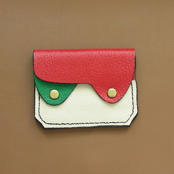 Small Leather Wallet / Coin Purse / Card Case