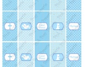Printable First Communion Boy Mini Candy Bar Wrappers