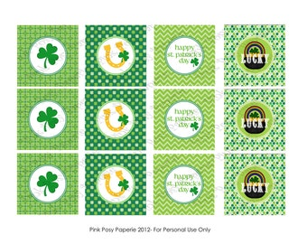 Printable St Patricks Day Cupcake Toppers - Instant Download