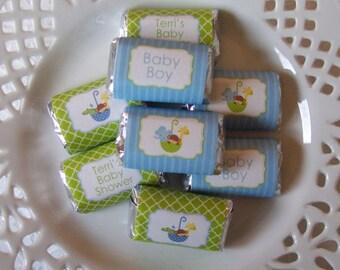 Printable Noahs Ark Boy Baby Shower Mini Candy Bar Wrappers