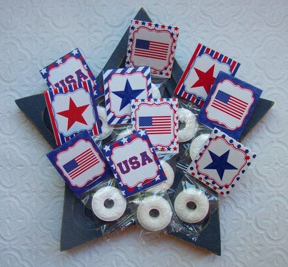 Printable Patriotic Memorial Day Mint and Skinny Bag Toppers
