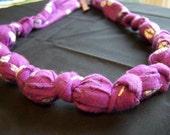 Purple Baby Buggy Breastfeeding/Nursing/Bottle Feeding Necklace