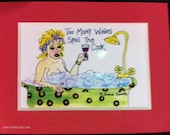 Too many wines spoil the cook MAGNET humor
