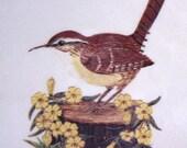 Vintage Trivet   Decoupage Bird   1977