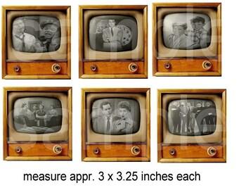 Altered Retro TV Number 1... Baby Boomer Nostalgia....Digital Collage Sheet