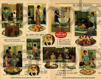 Vintage CookBook Graphics...Cooking....2 Digital Collage sheets