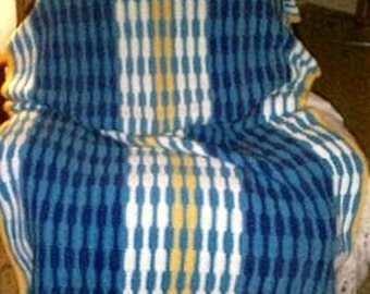 PDF Colorful Waves Afghan, Crochet Pattern