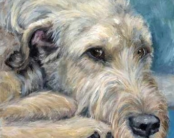 Irish Wolfhound Art Print of Original Painting