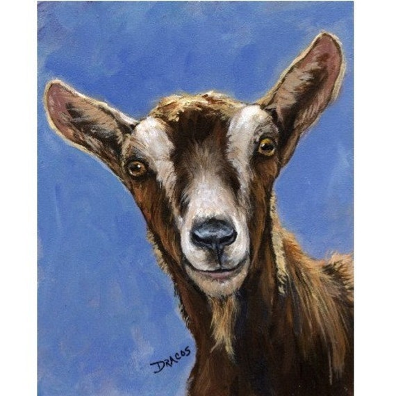 Dairy Goat Farm Animal print Dottie Dracos, Toggenburg, Farm