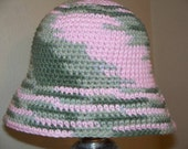 SALE - Child Size Girly Camo Bucket Hat FOR WARM AND FUZZY TOO ONLY