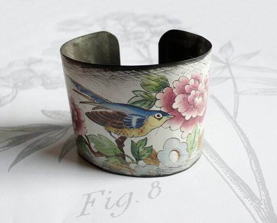 bluebird - vintage tin bracelet