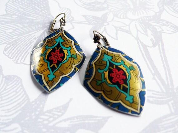splendid - vintage tin earrings