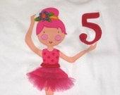 Personalized Ballerina Shirt, Ballerina Birthday Shirt, Ballerina Gift, Camp Shirt, Bridal Party Gift, Tutu Gift, Ballet Shirt,Birthday Gift