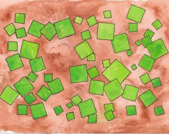 Soylent Green Watercolor Painting