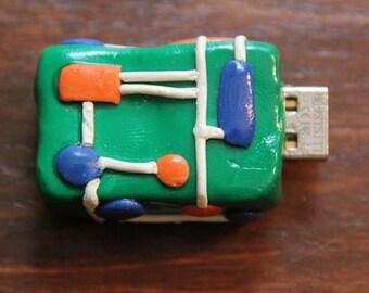Circuit Board Themed Modified USB Flash Drive 4GB