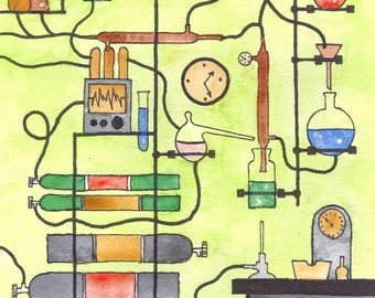 The Lab Beckons Watercolor Painting